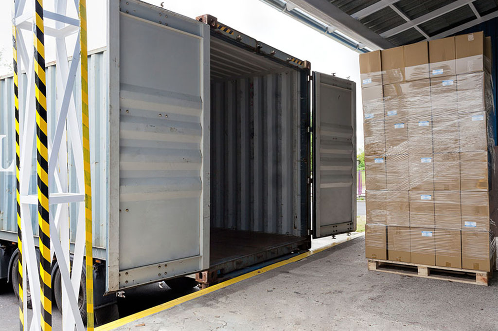 I pallets per container